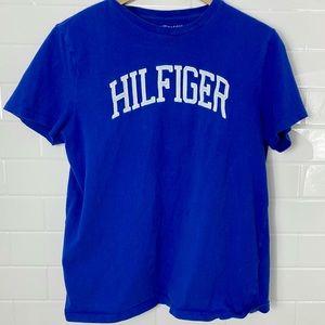 TOMMY HILFIGER Blue 'Hilfiger' Tee